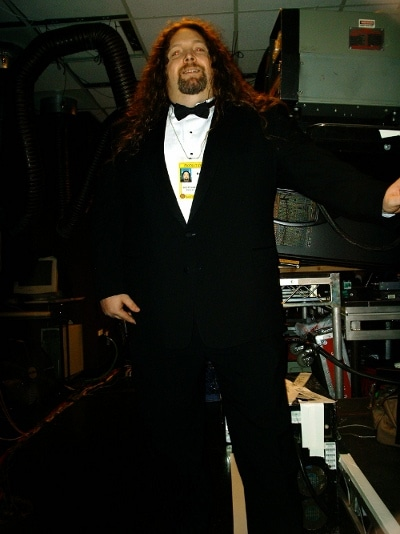 Scott Goegebuer video engineer wearing tuxedo