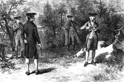 aaron burr alexander hamilton duel engraving