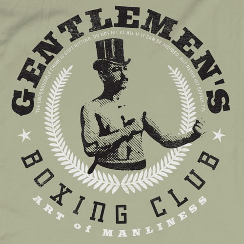 gentlemen's boxing club art of manliness t-shirt
