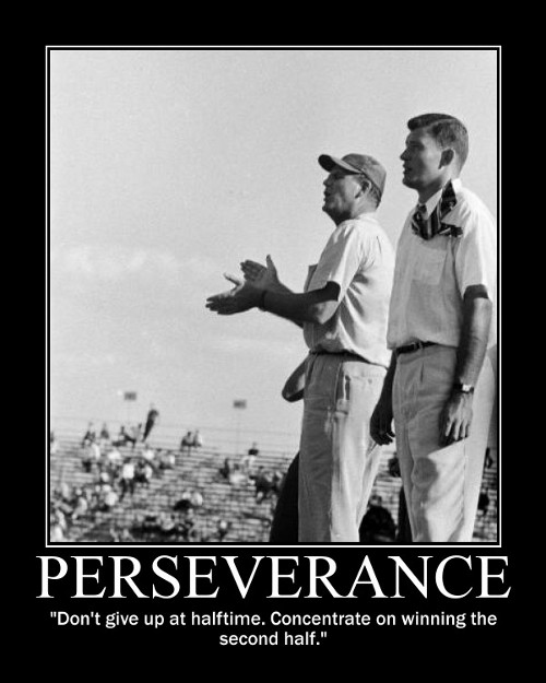 Paul Bear Bryant halftime winning quote motivational poster.