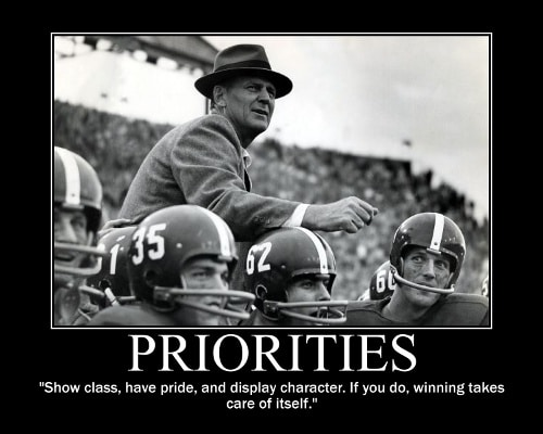 paul bear bryant pride class character quote motivational poster
