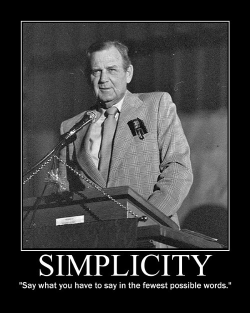 paul bear bryant fewest possible words quote motivational poster