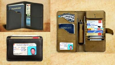 wallet comparison sleeve passport billfold clamshell