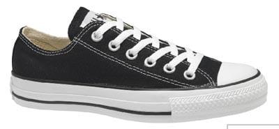Classic Converse black tennis shoe