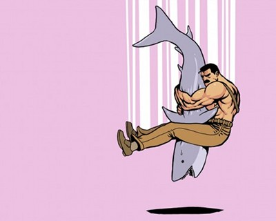 haggar shark pink background pile driver