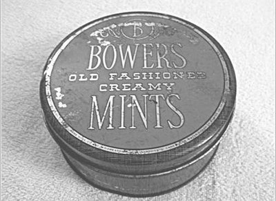 vintage tin of bowers old fashioned creamy mints
