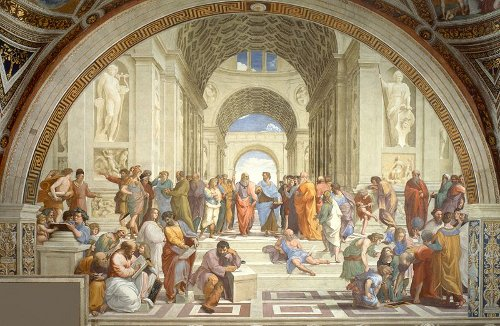 School of Athens painting by Raphael, 1510