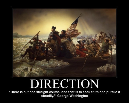 George Washington's seek truth quote motivational poster.