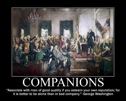 george washington good quality men quote motivational poster