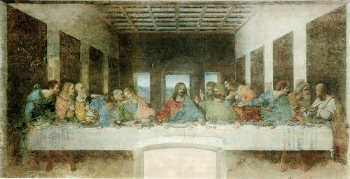 The Last Supper painting by Leonardo da Vinci, 1498