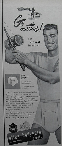 vintage underwear ad men utica bodyguard briefs