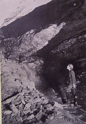 Vintage caver mammoth cave Kentucky spelunking.