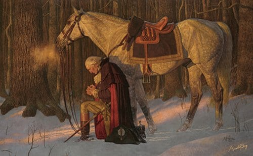 prayer at valley forge painting arnold friberg