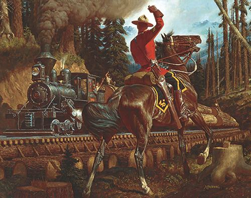 puffing billy painting arnold friberg