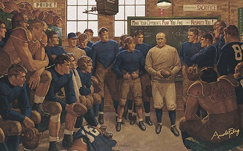 knute rockne at notre dame painting arnold friberg
