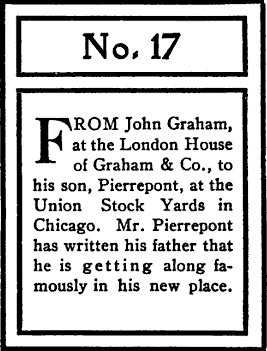 An illustration of letter NO. 17 by John Graham.
