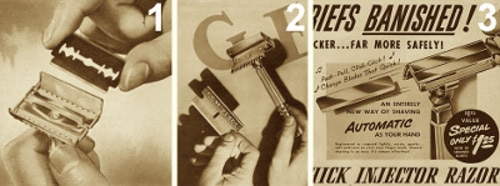 Gillette Double GEM Single Schick Injector Blades