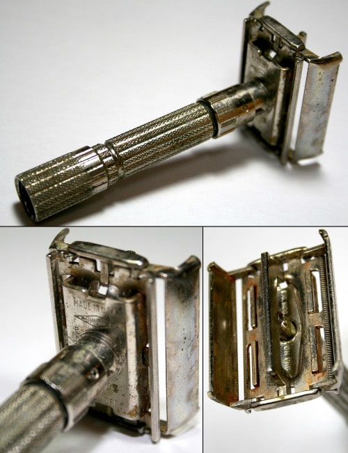 gillette fatboy safety razor vintage antique rusted