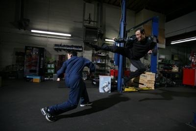 jino kang flying kick stuntman for martial arts movie