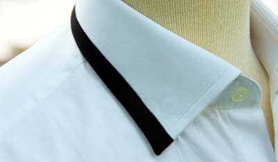 Dress Shirt Collar Black Stripe