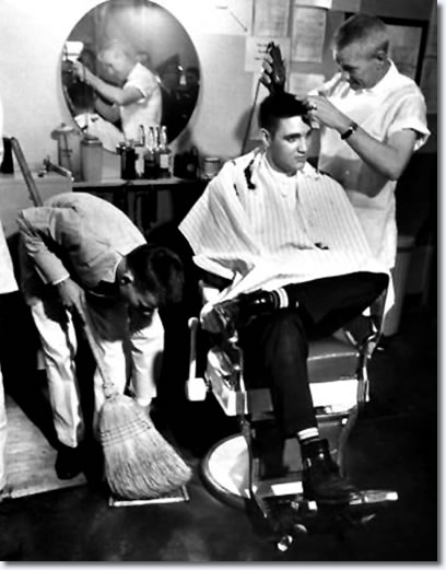 elvis presley barbershop getting haircut