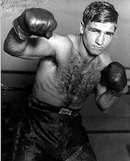 Vintage Melio Bettina give boxer posing portrait.