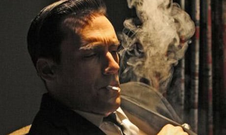 jon hamm don draper smoking cigarette
