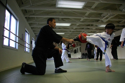 jino kang martial arts instructor teaching kids san fran