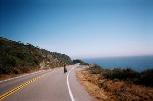 Bike ride tour on Pacific Coast Highway.
