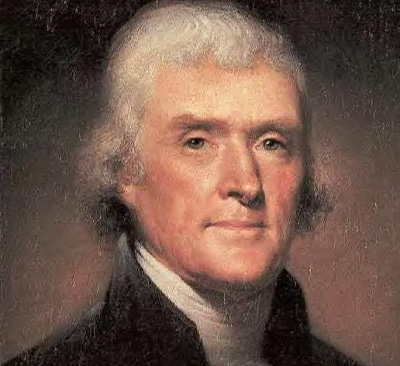 thomas jefferson president painting portrait headshot