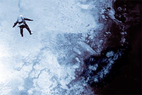 joseph kittinger space suit aerial view free falling