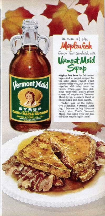 Vermont maid syrup ad advertisement.