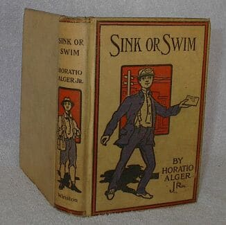 sink or swim horatio alger book cover vintage