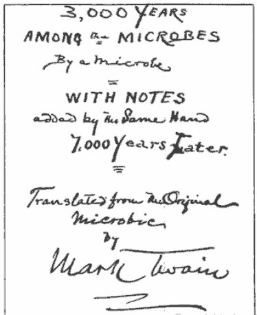 mark twain pocket notebook ideas for title page