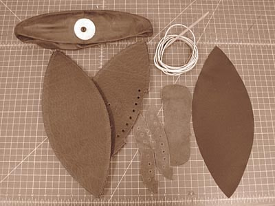 components of a football leather string
