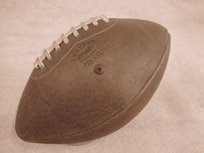leatherhead homemade handmade leather football