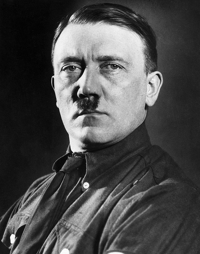 adolf hitler portrait head shot infamous mustache