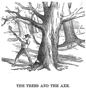 the huntsman and fisherman aesop's fables illustration drawing