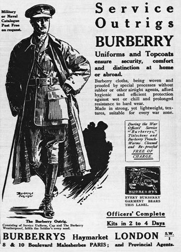 Vintage burberry trench coat ad advertisement.