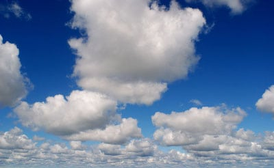 cumulus clouds blue sky identify weather