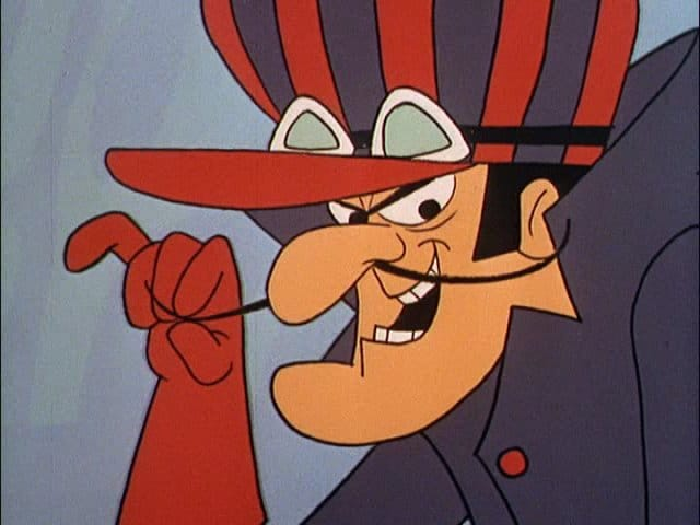 dick dastardly cartoon infamous pencil mustache