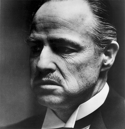 don corleone godfather marlon brando mustache