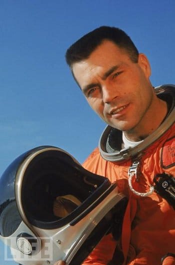 Nick Piantanida's portrait in space suit.