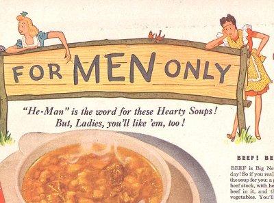 Illustration of Soup For Men Only.