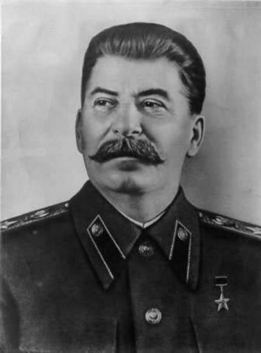 joseph stalin portrait mustache military dress uniform