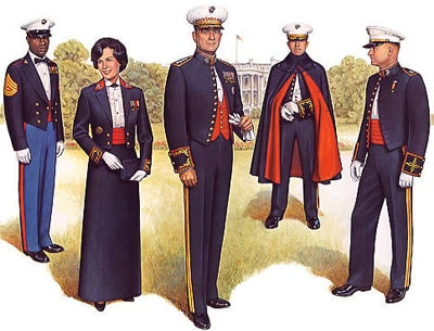 USMC Dress Uniforms illustration