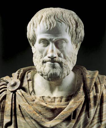 aristotle bust stone marble statue beard robes