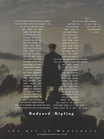Book cover of IF by Rudyard Kipling.