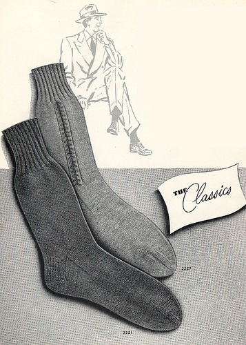 vintage socks ad advertisement classics undergarments