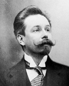 Alexander Nikolayevich Scriabin composer head shot portrait